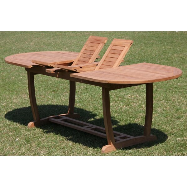 Montecito Luxurious 11 Piece Teak Dining Set By Rosecliff Heights