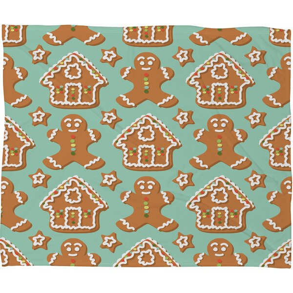 Sabine Reinhart Christmas Kitchen Plush Fleece Throw Blanket by Deny Designs