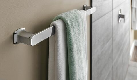 Via 24 Wall Mounted Towel Bar by Moen
