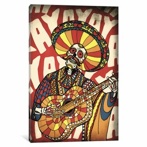 Mariachi by Ali Gulec Graphic Art on Wrapped Canvas by Bungalow Rose