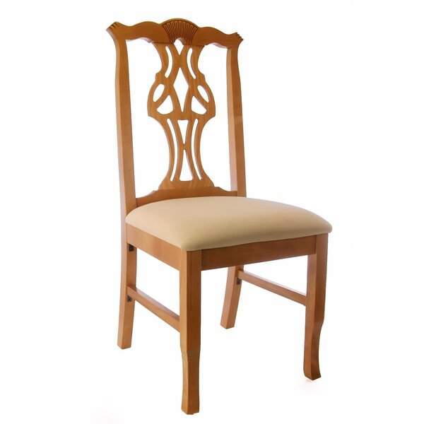 Chippendale Side Chair in Cream Microfiber by Benkel Seating