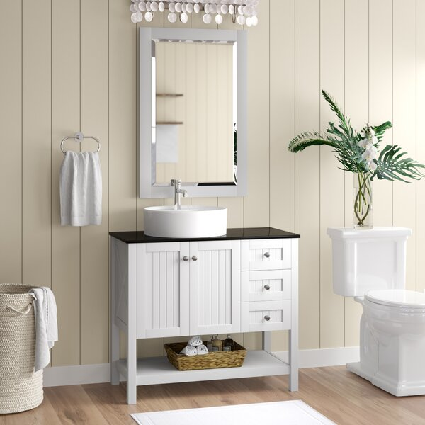 "Nadel 36"" Single Bathroom Vanity Set with Mirror by Beachcrest Home"