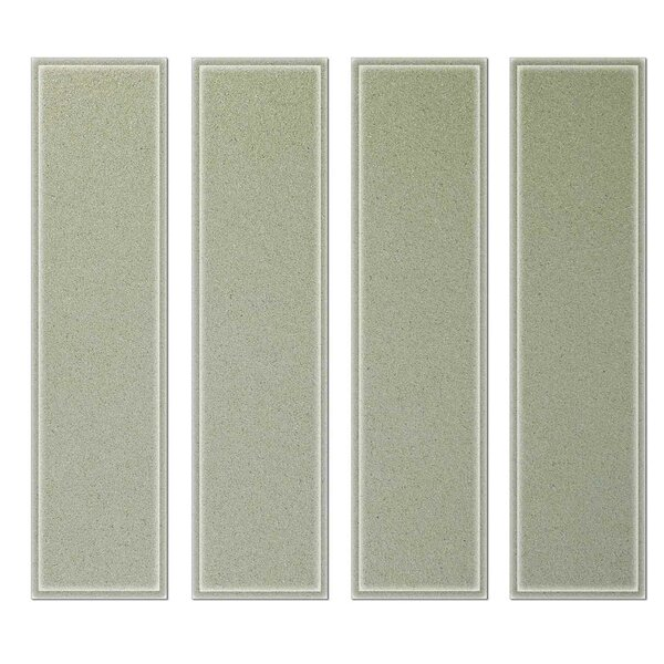 Crystal 3 x 12 Beveled Glass Subway Tile in Light Gray by Upscale Designs by EMA