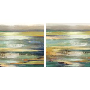 'Evening Tide' 2 Piece Painting Print on Wrapped Canvas Set by Latitude Run