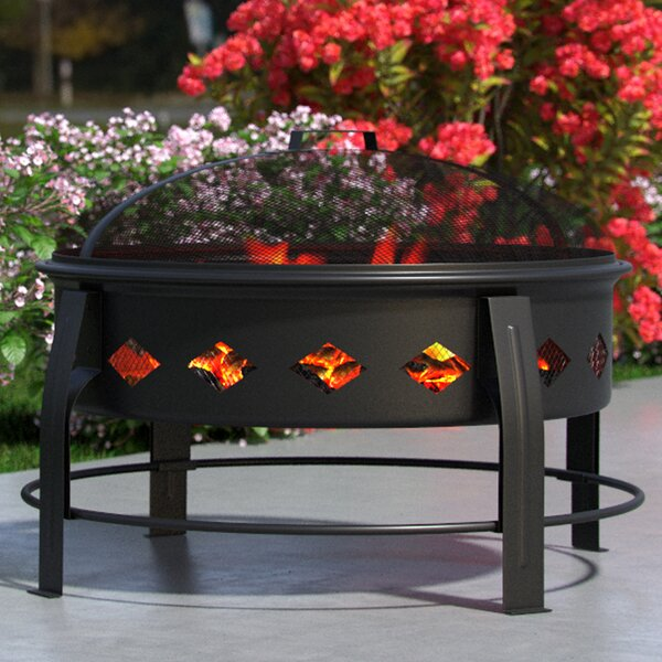 Cosmic Outdoor Steel Wood Burning Fire Pit by Regal Flame