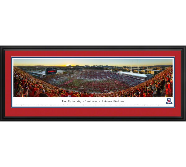 NCAA Arizona, University of by James Blakeway Framed Photographic Print by Blakeway Worldwide Panoramas, Inc