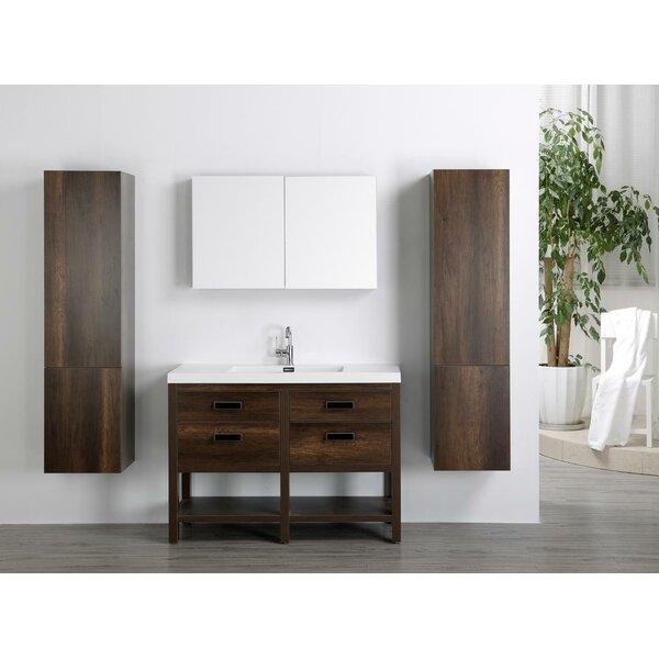 47 Single Bathroom Vanity Set with Mirror by Streamline Bath