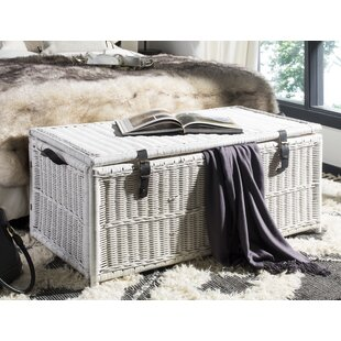 Attrayant White Wicker Trunk | Wayfair