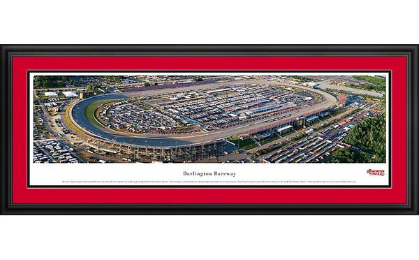 NASCAR Raceway Deluxe Framed Photographic Print by Blakeway Worldwide Panoramas, Inc