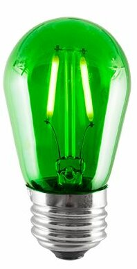 2W Green LED Sign Light Bulb (Set of 5) by Bulbrite Industries