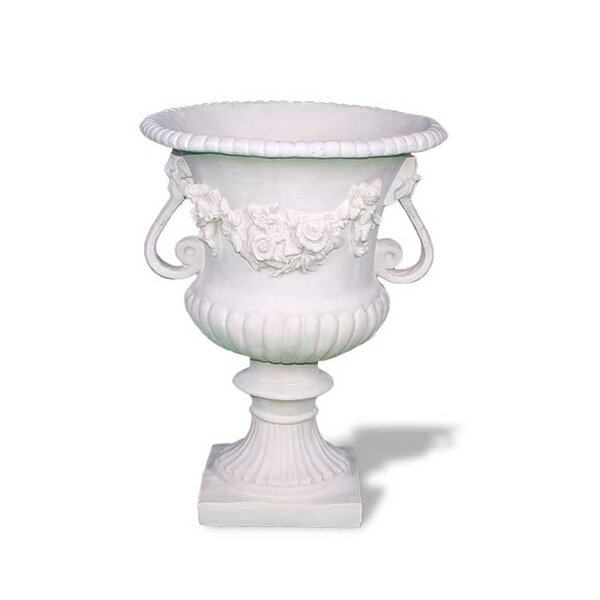 Rose Resin Stone Urn Planter by Amedeo Design