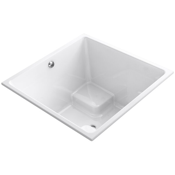 Underscore 48 x 48 Drop-in Bathtub with Bask Heated Surface and Center Drain by Kohler