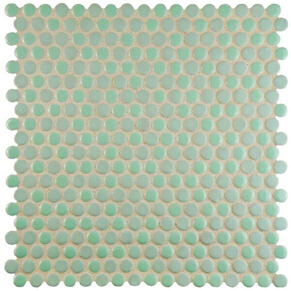 Astraea 0.62 x 0.62 Porcelain Mosaic Tile in Mint by EliteTile