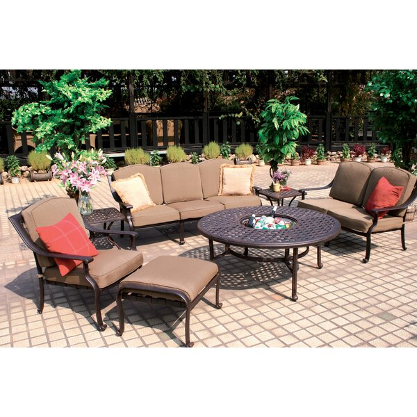 Thompsontown 7 Piece Sofa Set with Cushions by Alcott Hill