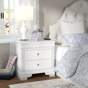 Best Reviews Hewitt 2 Drawer Nightstand By Three Posts