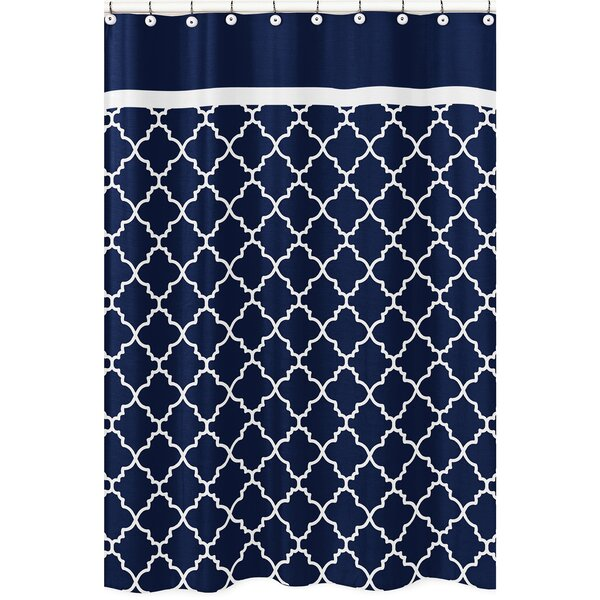 Trellis Brushed Microfiber Shower Curtain by Sweet