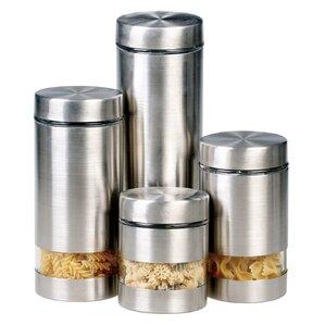 4 piece kitchen canister set