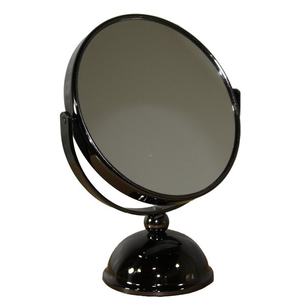 Round X Black Magnify Mirror by Darby Home Co