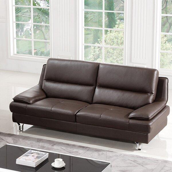 Purchase Online Hillwill Leather Sofa by Orren Ellis by Orren Ellis