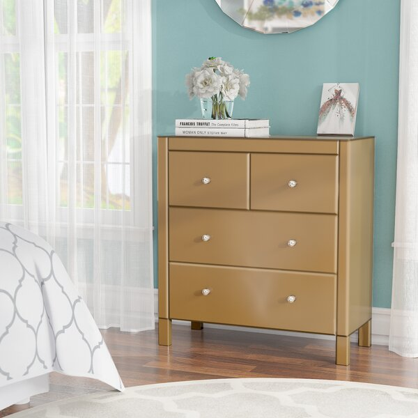 Felica Mirrored 4 Drawer Bachelors Chest by Willa Arlo Interiors