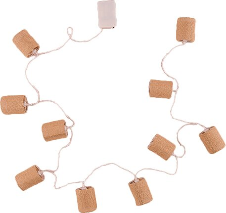String of Lights with Natural Burlap Shades by Weddingstar