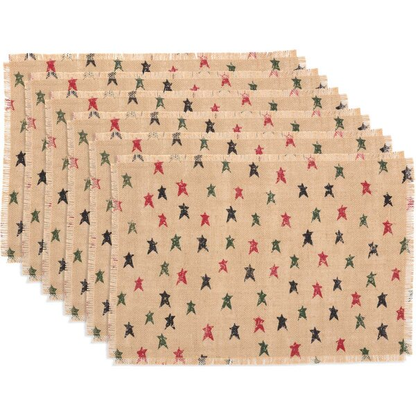 Altha Primitive Star Jute Placemat (Set of 6) by The Holiday Aisle