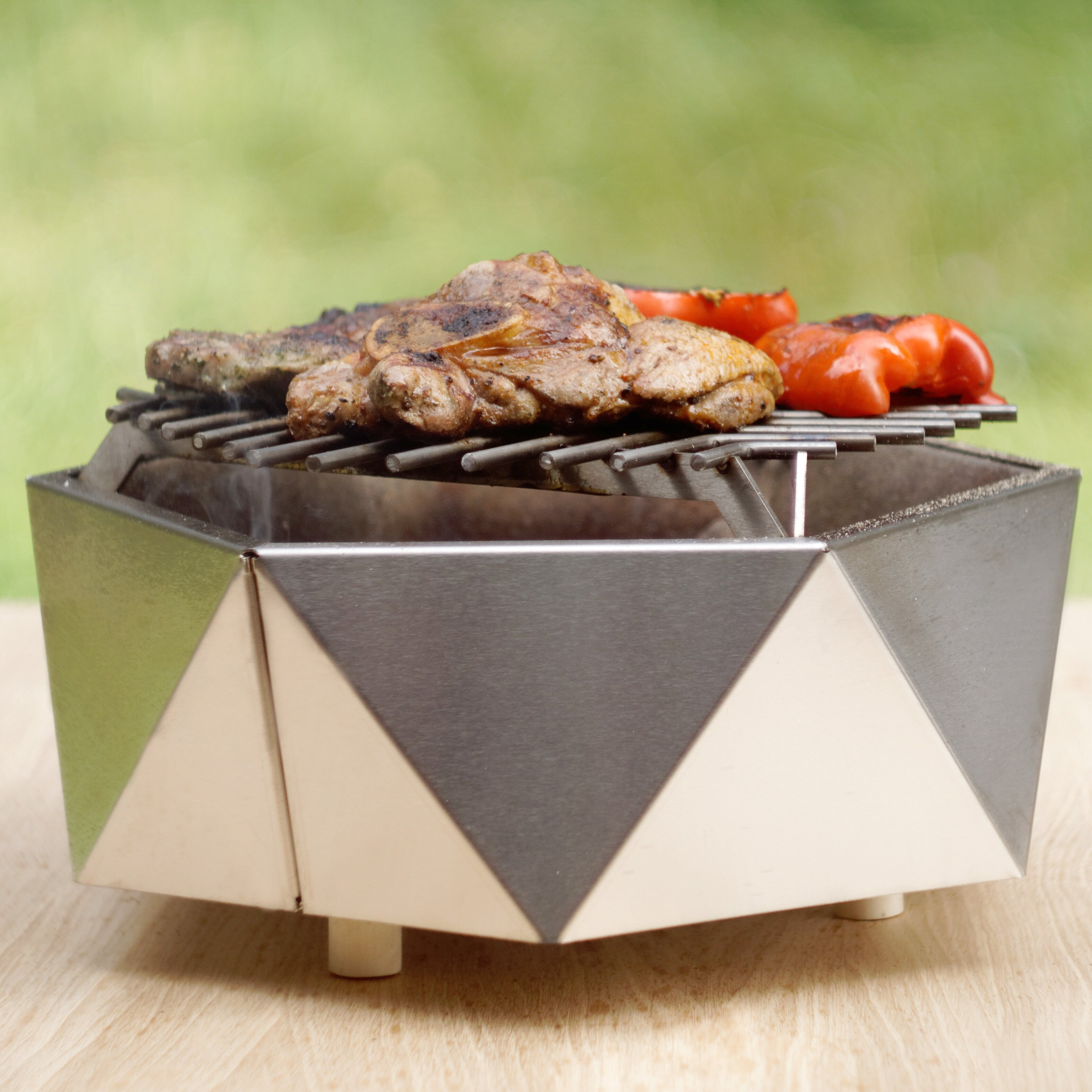 Curonian Stainless Steel Charcoal Tabletop Grill | Wayfair