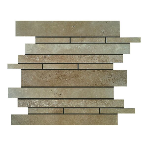 Strips Natural Stone Mosaic Tile in Noce by QDI Surfaces