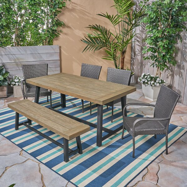 Clawson 6 Piece Dining Set by Union Rustic