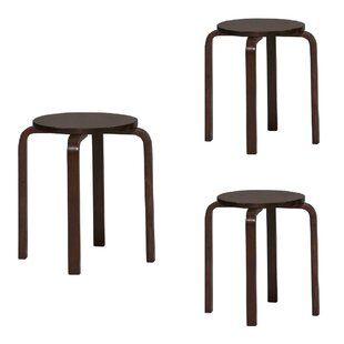Magnificent Cafferkey Round Wooden Accent Stool Set Of 4 Ibusinesslaw Wood Chair Design Ideas Ibusinesslaworg