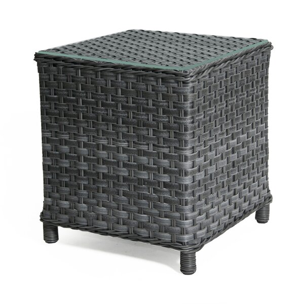 Sawyerville Glass Side Table by Wildon Home®