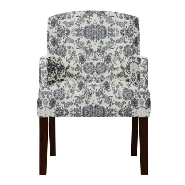 Arturo Gray Cotton Arm Chair by Langley Street