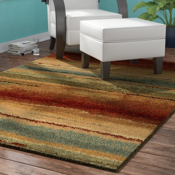 Forrester Capizzi Burgundy/Cream/Dark Brown Area Rug by Latitude Run
