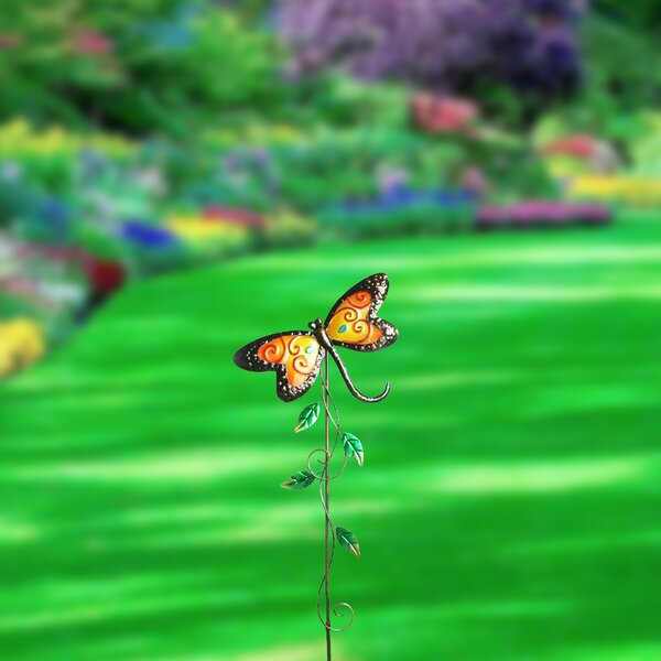 Recio Painted Butterfly Garden Stake by Winston Porter