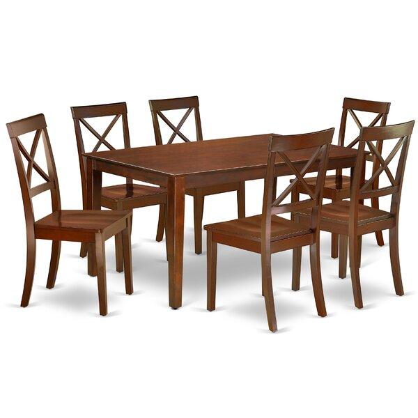 Karol 7 Piece Solid Wood Dining Set by Alcott Hill Alcott Hill