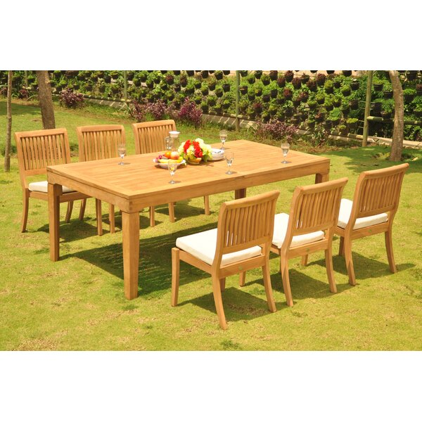 Matamoros 7 Piece Teak Dining Set by Rosecliff Heights