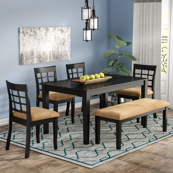 Oneill 6 Piece Wood Dining Set by Andover Mills