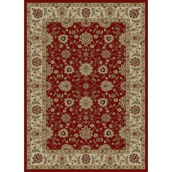 Ankara Zeigler Red Rug by Threadbind