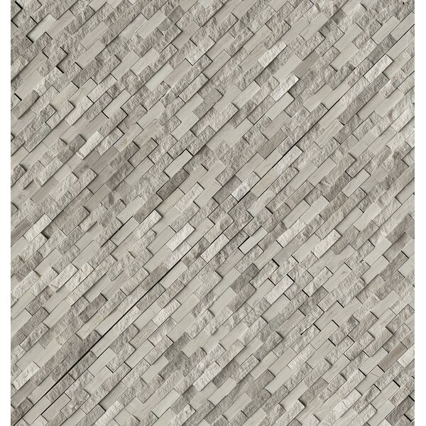 Split Face 0.4 x 1.2 Marble Mosaic Tile in Off-White by MSI