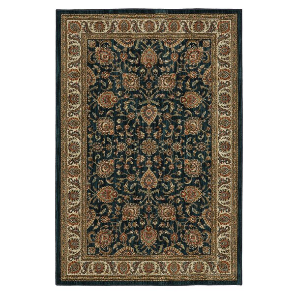 Finely Royal Blue Area Rug by Mayberry Rug