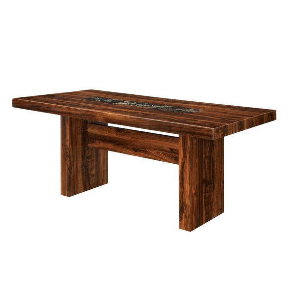 Hermínio Solid Wood Dining Table by Red Barrel Studio