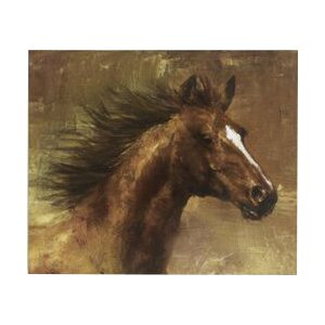 Horse Painting Print on Wrapped Canvas by Loon Peak