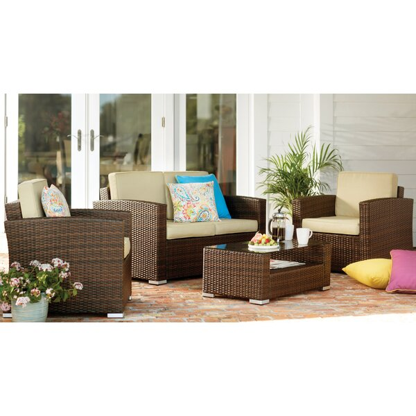 Sabrina 4 Piece Rattan Sofa Seating Group With Cushions By Mistana™