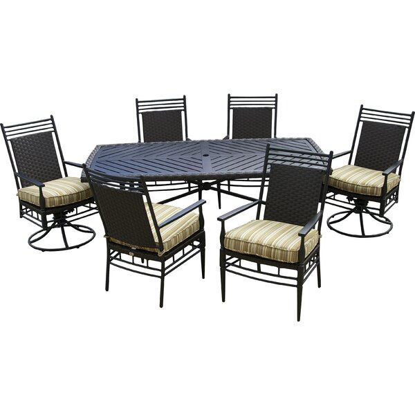 Martin Patio 7 Piece Dining Set with Cushions by Outdoor Innovation