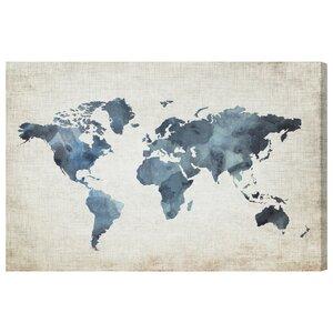 Mapamundi New Worlds V2 Graphic Art on Wrapped Canvas by Brayden Studio