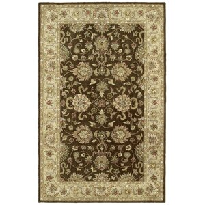 Mary Brown Floral Area Rug