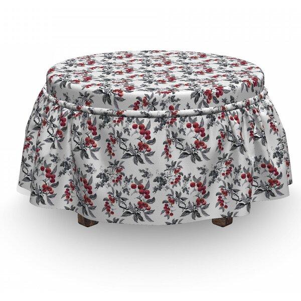 Rowan Abstract Botany Garden 2 Piece Box Cushion Ottoman Slipcover Set By East Urban Home