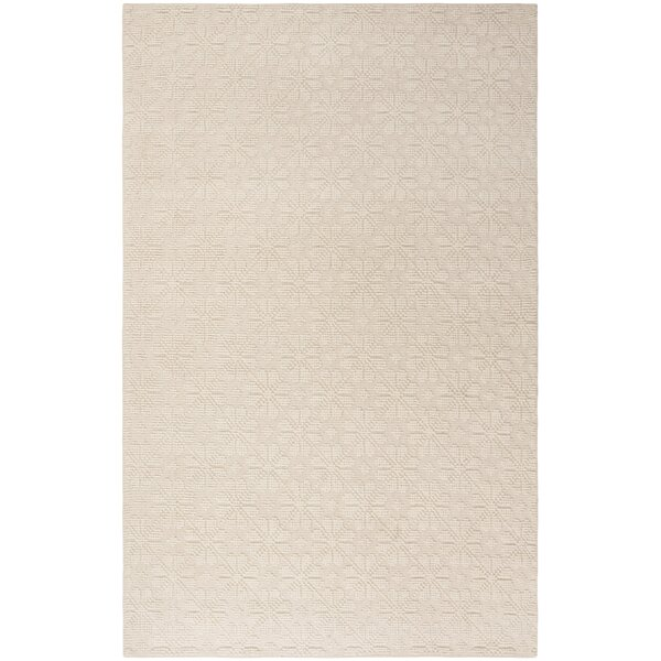 Kelton Hand-Woven Wool Ivory Area Rug by Ophelia & Co.