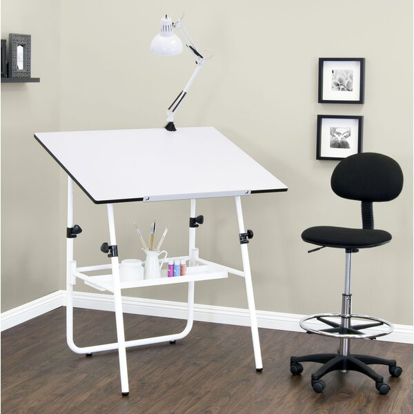 Studio Height Adjustable Drafting Table and Chair Set