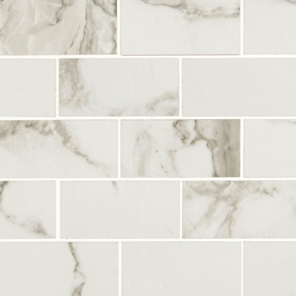 Pietra 2 x 4 Porcelain Mosaic Tile in Statuario by MSI